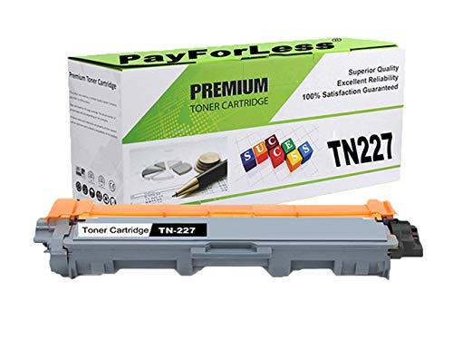 PayForLess Toner Cartridge TN227 TN-227 TN223 TN-223 Compatible 1PK Black for Brother HL-L3270CDW HL-L3210CW HL-L3230CDW HL-L3230CDN HL-L3290CDW MFC-L3710CW MFC-L3750CDW MFC-L3770CDW Printers -  TN227B01M
