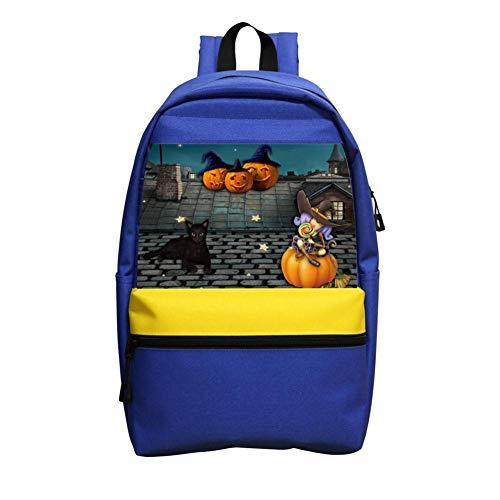 School Bag 3D Printing Halloween Pumpkin Boy Girl School Backpack]()