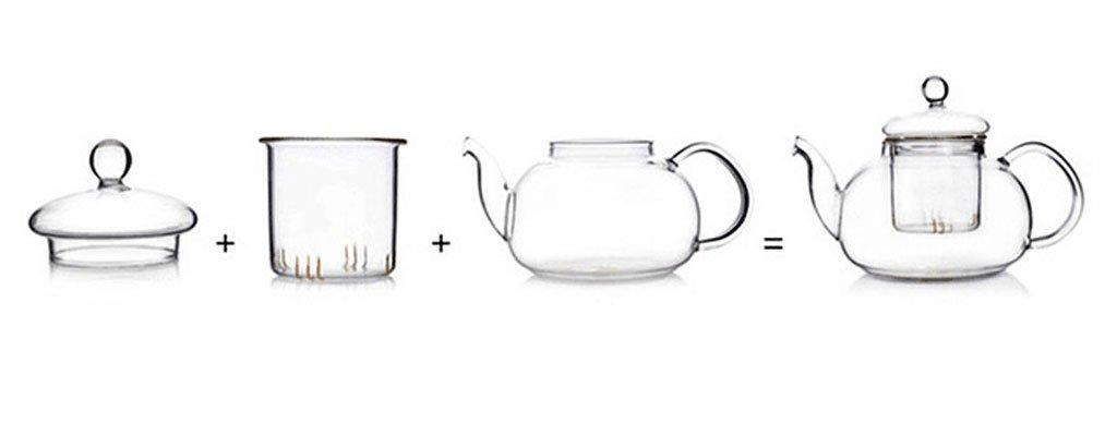 Beylor Clear Glass Teapot Heat Resistant Teapots 600 Ml 20 3 Oz