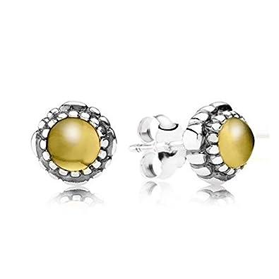 6966e4216bbe4 Amazon.com: Pandora 290543CIG Birthday Blooms Earrings November ...