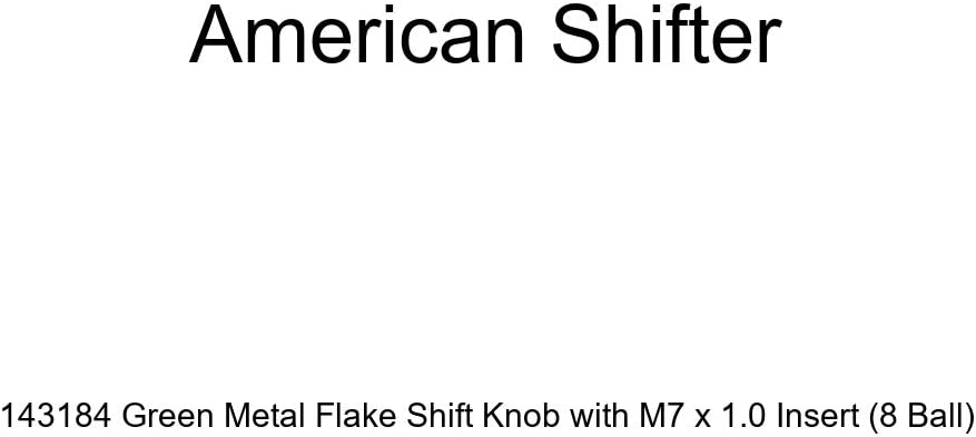 American Shifter 143184 Green Metal Flake Shift Knob with M7 x 1.0 Insert 8 Ball