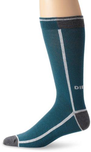 Diesel Men's Ray Fresh and Bright Sock, Slate/Blue, Large