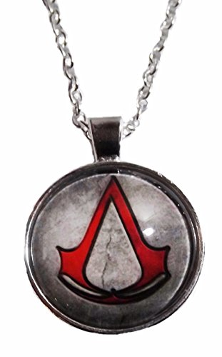 Assassins Creed Red Logo Glass Dome PENDANT on 20