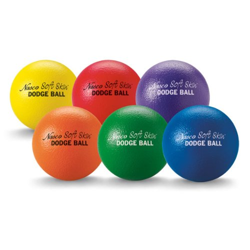 MAC-T PE07216E''Soft Skin'' Extra Durable Foam Dodgeball, 6-1/4'' Diameter, All Grade Levels, Set of 6 by MAC-T