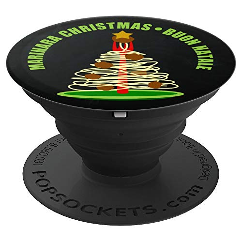 Marinara Christmas Buon Natale Pasta Tree - PopSockets Grip and Stand for Phones and Tablets