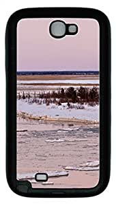 Samsung Note II Case Freezing Lakes TPU Custom Samsung Note 2 Case Cover Black
