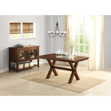 Better Homes and Gardens Maddox Crossing Dining Table, Brown - Dining Table Model