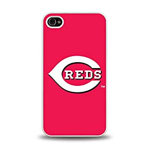 iPhone 4 4S case protective skin back cover with MBL National League Cincinnati Reds Team Logo 2014 Latest - 9