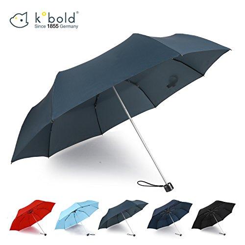 Price comparison product image Kobold Windproof Travel Umbrella Lights Compact Mini 3 Fold Rain & Sun Protection Umbrellas for Women Gray