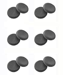 Plantronics (43937-01) 6-pairs Replacement Ultra Soft Foam Ear Cushions For Duoset H141, H141n & Cs50, Cs55 Headset - Made In Usa