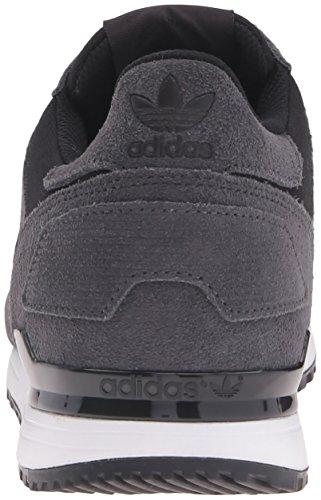 adidas Originals Herren ZX 700 Lifestyle Runner Sneaker Utility Schwarz / Metallic Silber-SLD / Schwarz