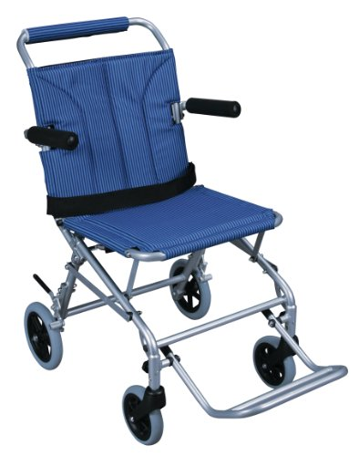 Drive Medical Super Light, Folding Transport Chair with Carry Bag, Blue ()