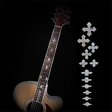 Guitarra Diapasón Inlay pegatinas imitación Abalone bruto eléctrica acústica Fret cuello adhesivos/marcadores New: Amazon.es: Instrumentos musicales