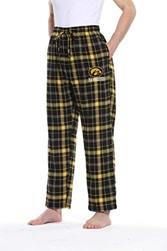 Iowa Hawkeyes Adult NCAA Team Pride Flannel Lounge Pants - Team Color, Small - Iowa Hawkeyes Lounge Pant