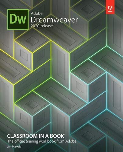 Adobe Dreamweaver Classroom in a Book (2020 release) Front Cover