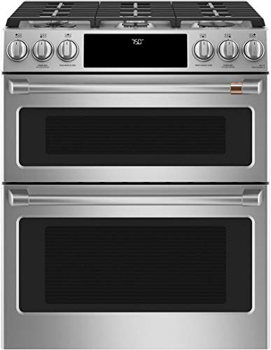 Cafe 30' ADA Slide-In Front Control Gas Double Oven With Convection Range