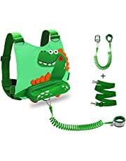 Toddler Leash + Anti Lost Wrist Link,Toddler Leash for Walking 8.2 Ft Anti Lost Leash Child Safety Leash for Boys,Girls,Babies and Kids