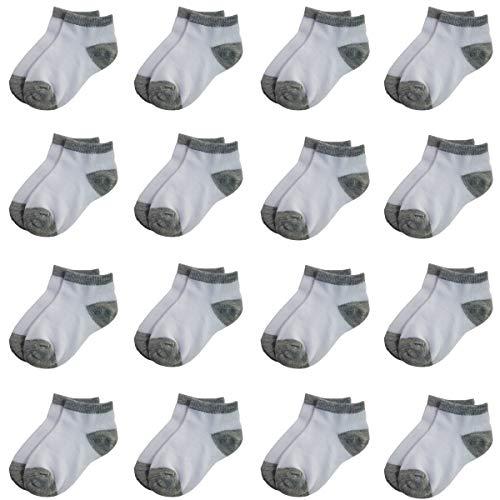 Toddler Socks 16 Packs-Kids Low Cut Ankle Socks Baby Boys Girls Breathable Socks Bulky (4-6 Years Old) from Tenpluszero