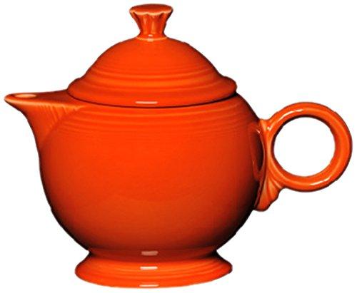 Fiesta Covered Teapot, 44-Ounce, Poppy