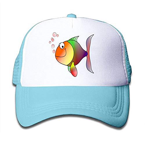 scakoko Hats Clipart Happy Fish Kids Toddler Adjustable Snapback Mesh Back Cap Ball Cap Halloween