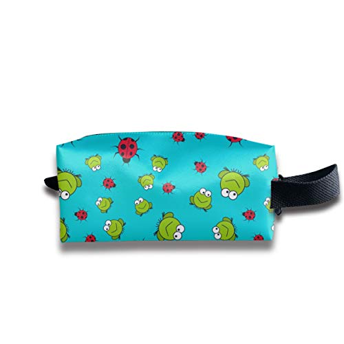 Hengxin TZ Frogs and Ladybugs Womenâ€s Travel Cosmetic Bags Cute Makeup Bag Pouch Travel Multi-Functional Toiletry Bag