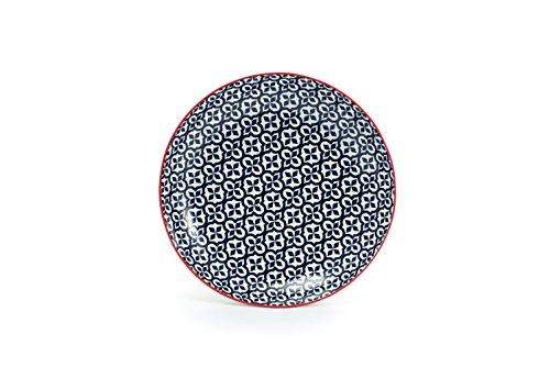 Tablescapes GT30331S4PK Serena Salad Plates (4 Pack), Blue Night by Tablescapes