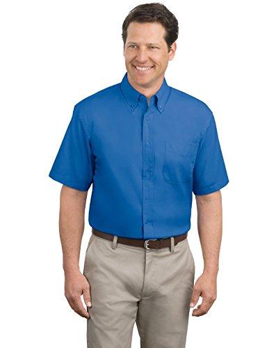 Port Authority Men's Tall Short Sleeve Easy Care Shirt 3XLT Royal/Classic Navy