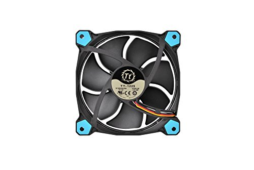 Thermaltake Riing 12 Series Blue High Static Pressure 120mm Circular LED Ring Case/Radiator Fan with Anti-Vibration Mounting System Cooling CL-F038-PL12BU-A by Thermaltake (Image #2)