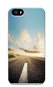 Case For Iphone 5/5S Cover Nature Horizon Roads 3D Custom Case For Iphone 5/5S Cover Cover