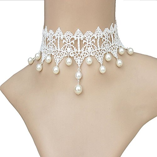 Acxico® White Pure Beautiful Gothic Pearl Bridal