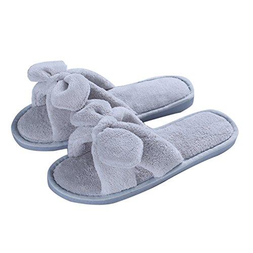 DANDANJIE Slip-On acogedora de Las Mujeres Suaves Zapatillas y Flip-Flops Soles Ligeros PU Rubber Fall Winter Indoor Home Slippers Shoes Zapatos caseros Rosado