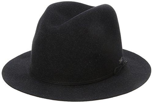 Coal The Drifter Crushable Short Brim Fedora Hat (Crushable Felt Fedora)