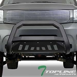 Amazon.com: Topline Autopart Matte Black AVT Style Bull