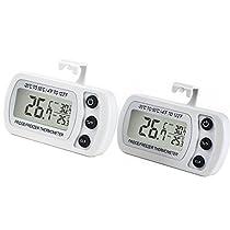 Fridge Thermometer, Digital Refrigerator Freezer Room Temp...