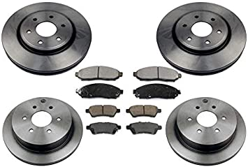 CERAMIC Brake Pads AND Shoes 2 Sets Fits Nissan Frontier FRONT//REAR Xterra