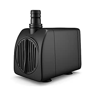 Uniclife UL210 Submersible Water Pump 210 GPH 13 W Quiet Indoor Outdoor Water/Garden/Fountain/Pool/ Aquarium with 6' UL Listed Cord