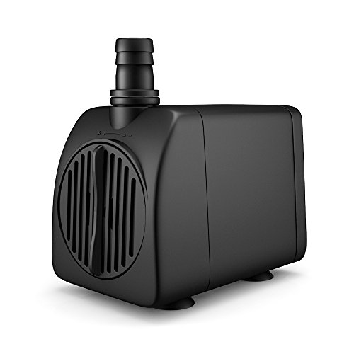 Uniclife UL210 Submersible Water Pump 210 GPH 13W Quiet Indoor Outdoor Water/Garden/Fountain/Pool/Aquarium with 6' UL Listed Cord (200 Gph Submersible Pump)