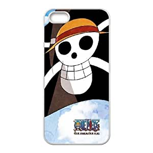 Cute TPU Case One Piece Flag iPhone 4 4s Cell Phone Case White