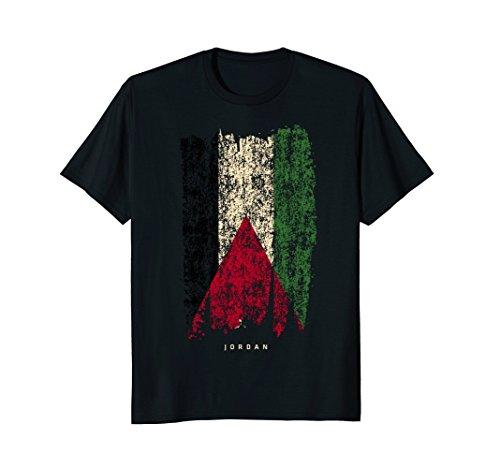 Vintage Jordan T-shirt Retro Jordanian Flag Shirt