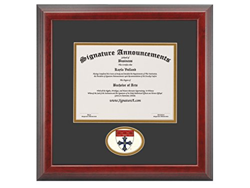 Signature Announcements Harvard-University-T.H-Chan-School-of-Public-Health-Graduate Sculpted Foil Seal Diploma Frame, 16'' x 20'', Cherry by Signature Announcements