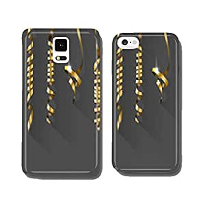 Party Background with Gold Streamers. Vector Illustration. cell phone cover case Samsung S5