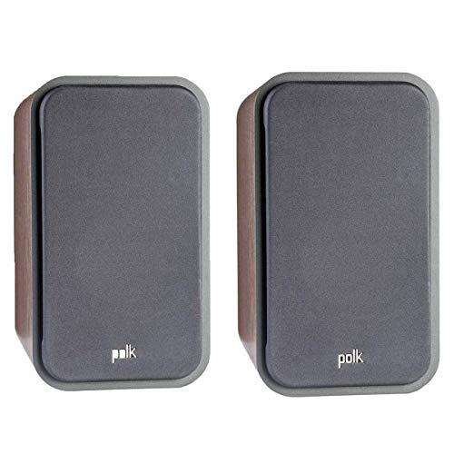 (Polk Audio Signature Series S20 American Hi-Fi Home Theater Large Bookshelf Speakers - Pair (Classic Brown Walnut))