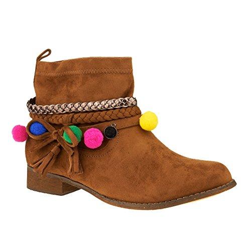 Footwear London Boots Femme Chelsea Camel SxqC0F