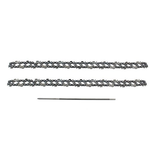 Price comparison product image 2pcs 14 Inch Chainsaw Saw Chain with File Fit for Stihl 017 MS170 MS171 - Power Tool Parts Other Accessories - 2 x Chainsaw Chain,  1 x File