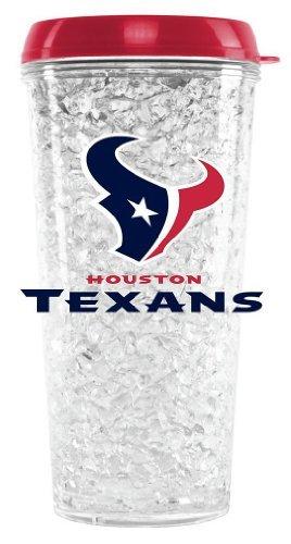 NFL Houston Texans 16oz Crystal Freezer Tumbler with Lid and - Crystal Texans Oz 16 Houston