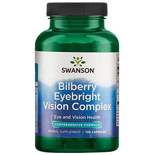 Swanson Bilberry Eyebright Vision Eye Health Complex Herbal Supplement 100 Capsules ()