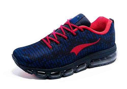 ONEMIX Chaussures de Running Mixte Adulte Bleu Marine/Rouge