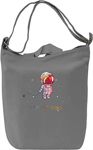 To Infinity Borsa Giornaliera Canvas Canvas Day Bag| 100% Premium Cotton Canvas| DTG Printing|