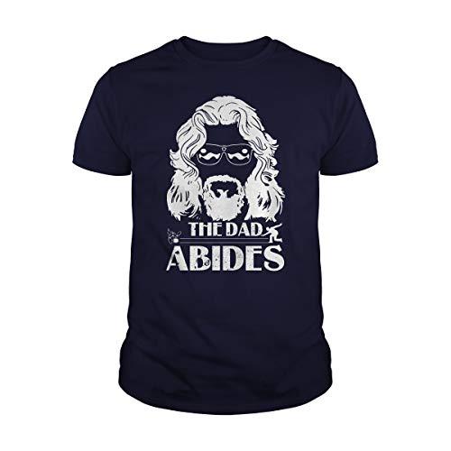 Zindora Men's The Dad Abides T-Shirt (4XL, Navy) -