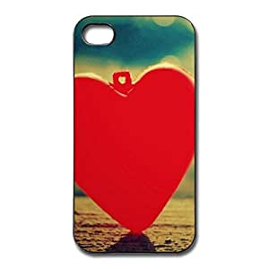 AOPO Phone Cavers For IPhone 4/4s,Red Heart Customizable IPhone 4/4s Skin